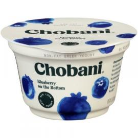 Blueberry Pack of 4 Greek Yoghurt 5.3OZ - Chobani