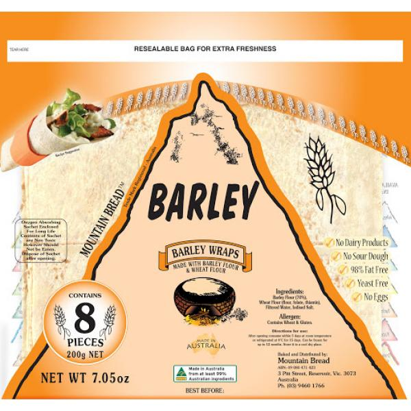 Mountain Bread Barley Wraps Pack 200g