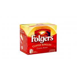 Folgers Coffee Singles Regular Box 19CT