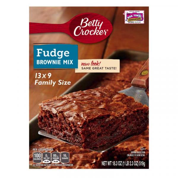 Betty Crocker Brownie Mix Fudge Family Trad. Crtn 18.3OZ