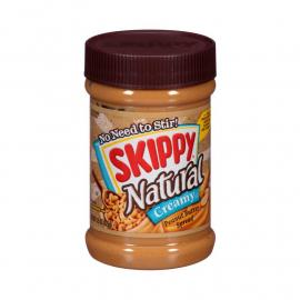 Skippy Peanut Butter Natural Creamy PlsCnt 15OZ