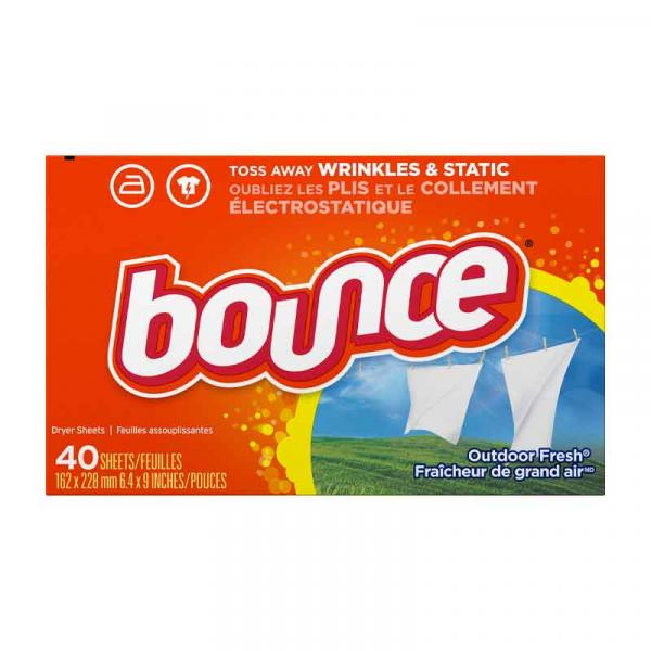 Bounce Dryer Sheets Outdoor Fresh Box 40CT
