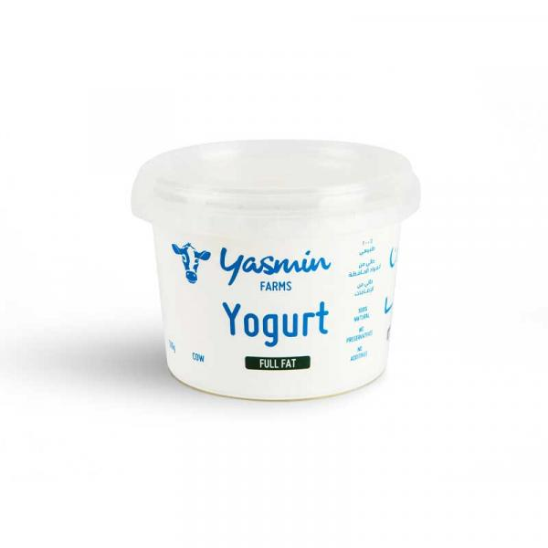 Cow Yoghurt Full Fat 500g - Yasmin Farms