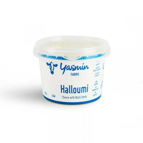 Cow Halloumi Cheese With Black Seeds 250g - Yasmin Farms