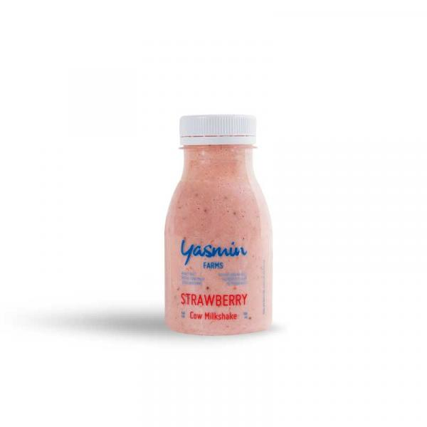 Cow Strawberry Flavored Milk Full Fat 180ml - Yasmin Farms