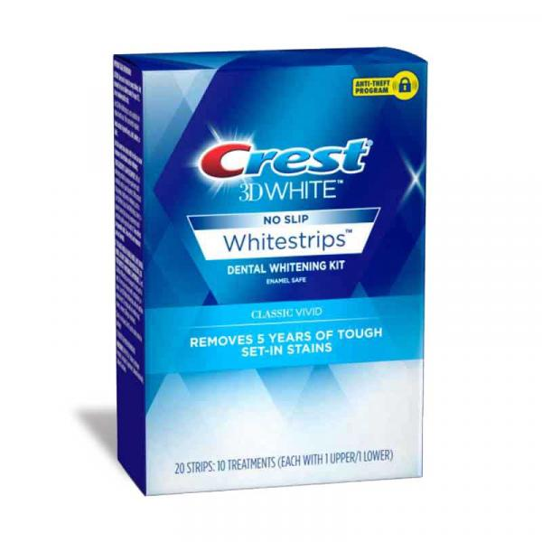 Crest U.S.3D Whitestrips Classic Vivid Box 10CT