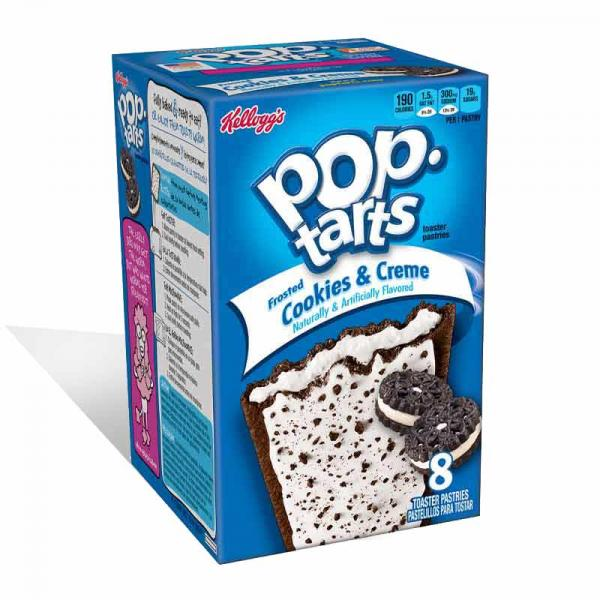 Kelloggs Pop Tarts Frosted Cookies N Crème Box8X13.5OZ