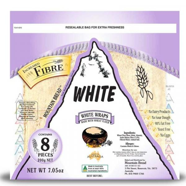 White Wraps Source of Fibre Pack 200g