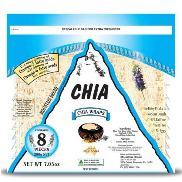 Chia Wraps Pack 200g