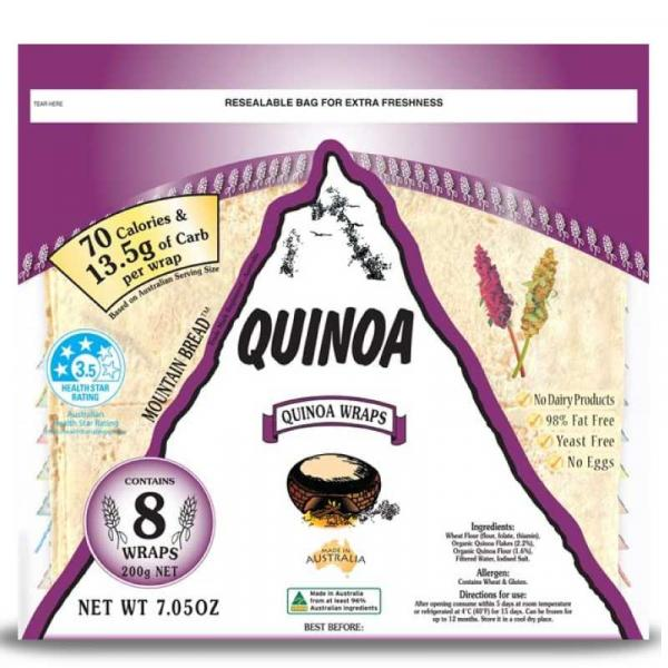 Quinoa Wraps Pack 200g