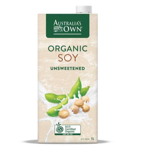 Organic Unsweetened Soy Milk Lactose Free 1L