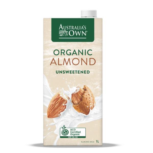 Organic Unsweetened Almond Milk 1L