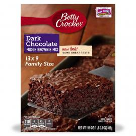 Betty Crocker Brownie Mix Dark Choc Fudge Crtn 19.9OZ