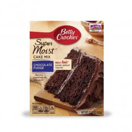 Betty Crocker Cake Mix Choc Fudge Crtn 15.25OZ