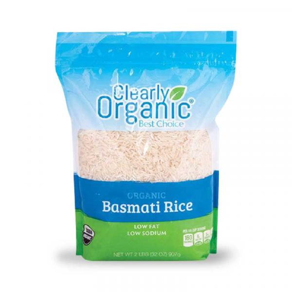 Clearly Organic Rice White Basmati Bag 32OZ