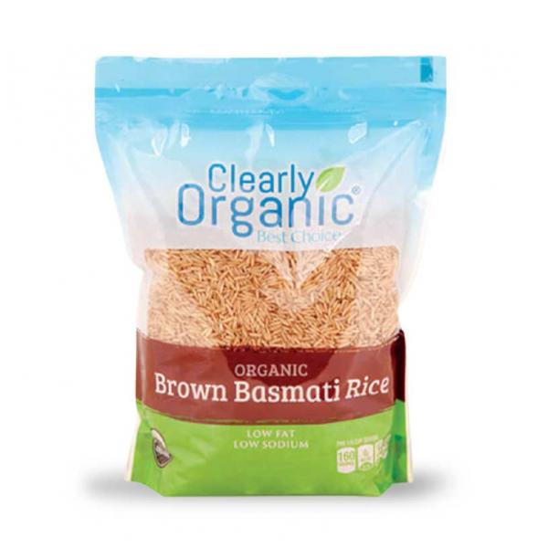 Clearly Organic Rice Brown Basmati Bag 32OZ