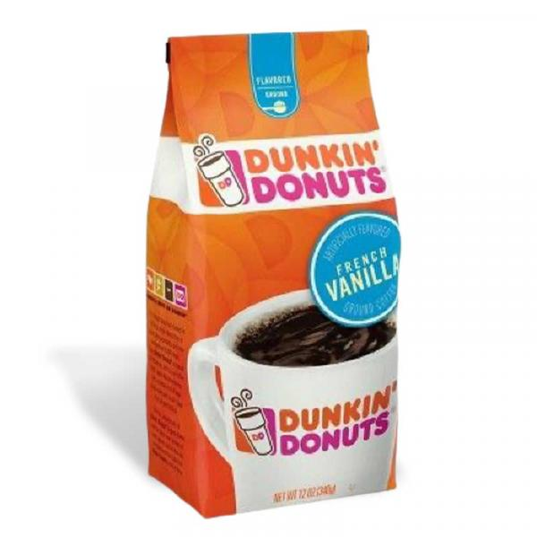 Dunkin Donuts Coffee French Vanilla Bag 12OZ