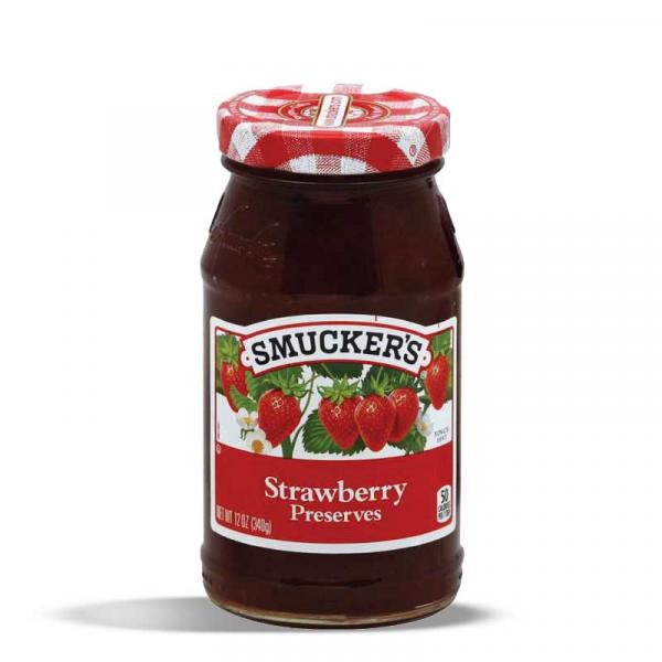 Smuckers Preserves Strawberry GlsCon 12OZ